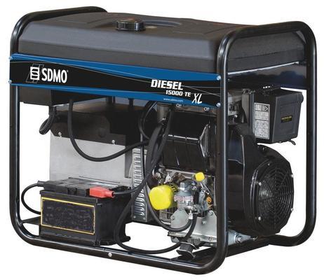 Aggregaatti 230 V & 400 V / 3,7 kW & 10 kW, SDMO - Aggregaatti 230 V & 400 V / 3,7 kW & 10 kW