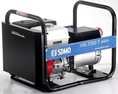 Aggregaatti Honda HX7500T, 230 V & 400 V / 2,3 kW & 6 kW, SDMO - Aggregaatti Honda HX7500T, 230 V & 400 V / 2,3 kW & 6 kW