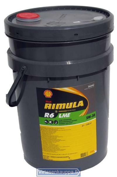 Shell Rimula R6 LME 5W-30 - Shell Rimula R6 LME 5W-30 20L