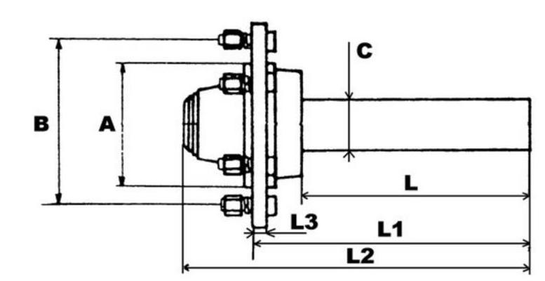Jarruton napa 80 mm, 4250 kg, ADR - Jarruton napa 80 mm, 4250 kg