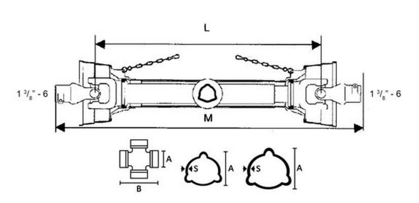 Nivelakseli B105 1.3/8-6, Benzi di Terlizzi - Nivelakseli B105 1.3/8-6