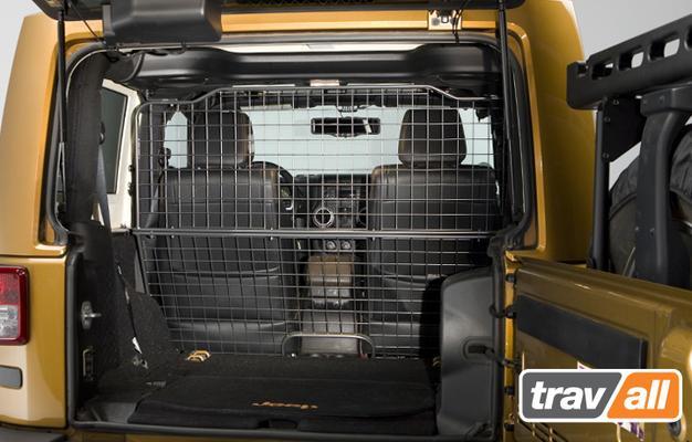 Koiraverkko autoon - Jeep Wrangler 2-ov (2011->), Travall - Koiraverkko autoon - Jeep Wrangler