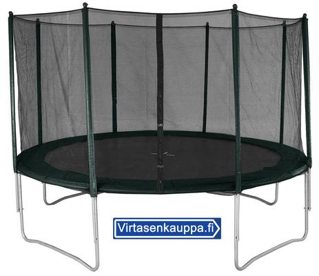 Trampoliini Ø 4,27 m + turvaverkko - Trampoliini 427 cm + turvaverkko