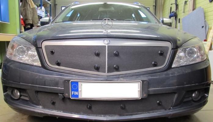 Maskisuoja Mercedes-Benz C-sarja (W204), vm. 2007-2011, Tammer-Suoja - Maskisuoja Mercedes-Benz C-sarja (W204)