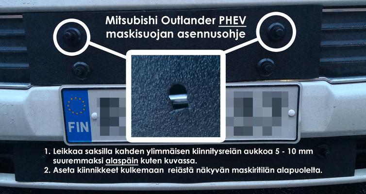 Maskisuoja Mitsubishi Outlander, myös PHEV-malli (2013-2015), Tammer-Suoja - Maskisuoja Mitsubishi Outlander