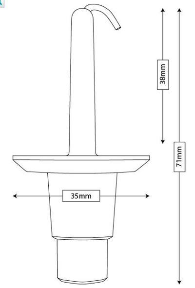 Maskisuojan kiinnike 38 mm, Tammer-Suoja - Maskisuojan kiinnike 38 mm