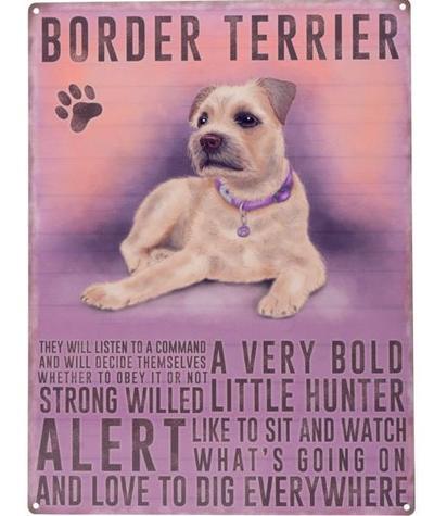 """Kyltti """"Border Terrier"""" - Kyltti """"Border Terrier"""""""