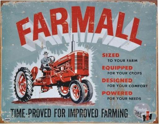 "Kyltti ""Farmall, time-proved for improved farming"" - Kyltti Farmall"