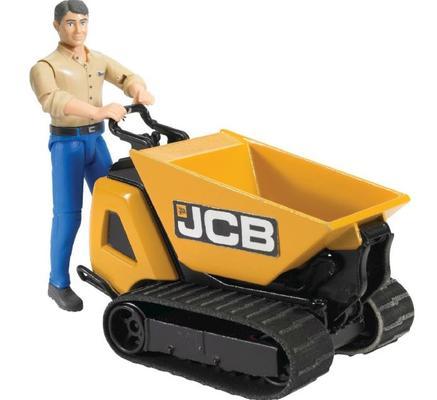 Lelu JCB HTD-5 -dumpsteri ja työntekijä (1:16), Bruder - Lelu JCB HTD-5 -dumpperi ja työntekijä (1:16)