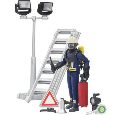 Leikkihahmo palomies sekä tarvikkeita, Bruder - Palomies sekä tarvikkeita