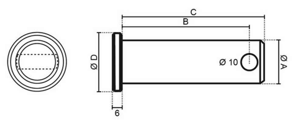 Työkonetappi 30 x 160 mm - Työkonetappi 30 x 160 mm