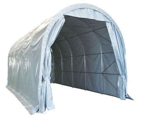 Konesuoja 4 x 10 m, kupolimallinen pressutalli - Konesuoja 4 x 10 m