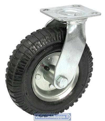 Vaununpyörä, 200 mm - kääntyvä, ilmakumi - Vaununpyörä, 200 mm