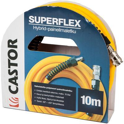 "Paineilmaletku Superflex 3/8"" (10 m), Castor - Paineilmaletku 10 m"