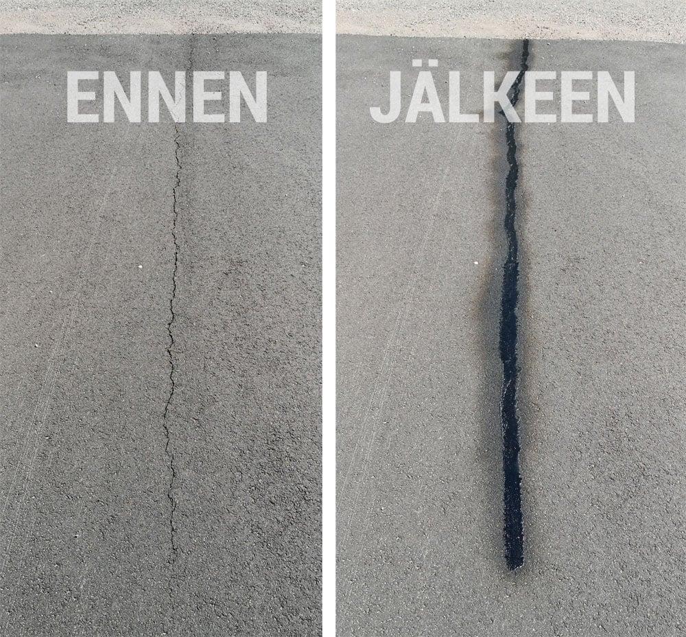 Näin korjaat asfaltin halkeamat