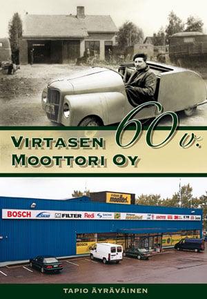 Virtasen Moottori Oy (Virtasenkauppa.fi) 60v historiikki-kirjan kansisivu
