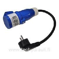 Adapteri Schuko/CEE 0,3 m (johto 0,4 m 1,5 mm)