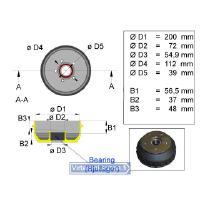 Jarrurumpu 200 mm  Euro 5x112