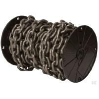 Lyhytlenkkinen ketju, karkaistu (DIN 766) - Lyhytlenkkinen karkaistu ketju 6 x 18,5 x 8 mm, 30 m/rulla