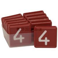Punaiset numerolaput - Numerolaput, 4