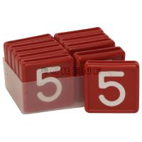 Punaiset numerolaput - Numerolaput, 5