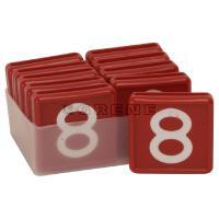 Punaiset numerolaput - Numerolaput, 8