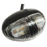 LED Äärivalo kehyksellä - oranssi (kirkas linssi) - 10-30V DC, JOL