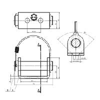 Saranan vastakappale UZ-02 SPP (U-kiinnike)