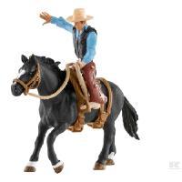 Rodeoratsastaja ja hevonen, Schleich