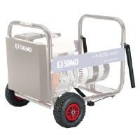 Aggregaatti Technic 7500 TE AVR, 230 V & 400 V / 2,3 kW & 6,5 kW, SDMO - Pyöräsarja aggregaattiin