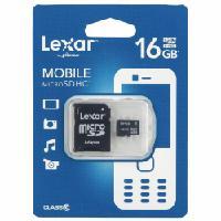 Lexar microSD -muistikortti adapterilla