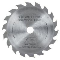 Pyörösahanterä 160 mm Z18