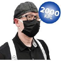 Musta hengityssuojain (2000 kpl)