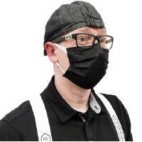 Musta hengityssuojain (50 kpl)