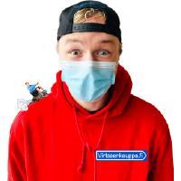Sininen hengityssuojain (50 kpl)