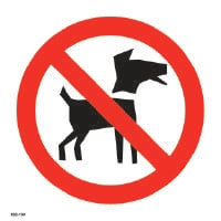 Kieltokilpi - Ei koiria