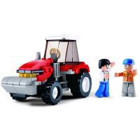 Koottava traktori ja kaksi hahmoa, Sluban