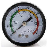 Paineilmakäyttöinen jäteöljyn poistoyksikkö 80 l, Meganex - Painemittari