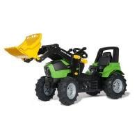 Deutz-Fahr Agrotron 7250 TTV -polkutraktori ilmakumipyörillä ja etukuormaajalla, Rolly Toys