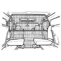 Koiraverkko autoon - Land Rover Defender 110 Station Wagon (1990-2006), Travall