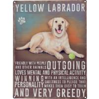 "Kyltti ""Yellow Labrador"""