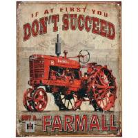 "Kyltti ""If at first you don't succeed, buy a Farmall"""