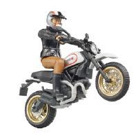 Lelu Moottoripyörä Ducati Desert ja kuljettaja (1:16), Bruder